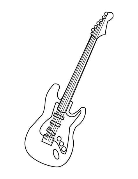 guitar coloring pages getcoloringpagescom