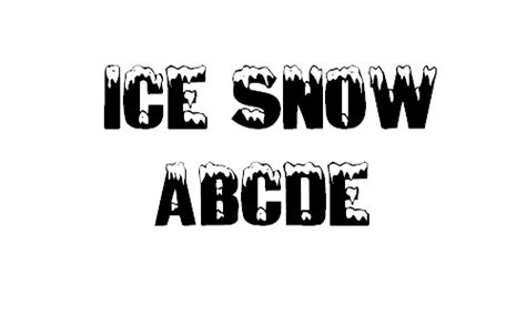 Snow Covered Letters by 33 Free Cool And Useful Snowy Fonts Naldz Graphics