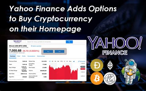 yahoo finance adds options  buy cryptocurrency