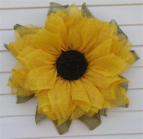 sunflower deco mesh wreath deco mesh sunflower wreath mesh