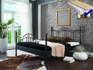 Billige Betten Mit Matratze : metallbett komplett bett cesar lattenrost matratze ~ Lateststills.com Haus und Dekorationen