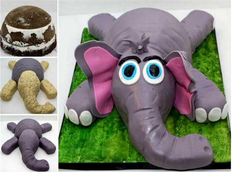 wonderful diy cute  elephant cake