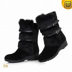 Height Measurement Chart Rabbit Fur Trim Women Snow Boots Cw332102