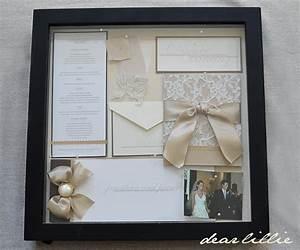 our wedding invitation program and menu box frame With wedding invitation display box