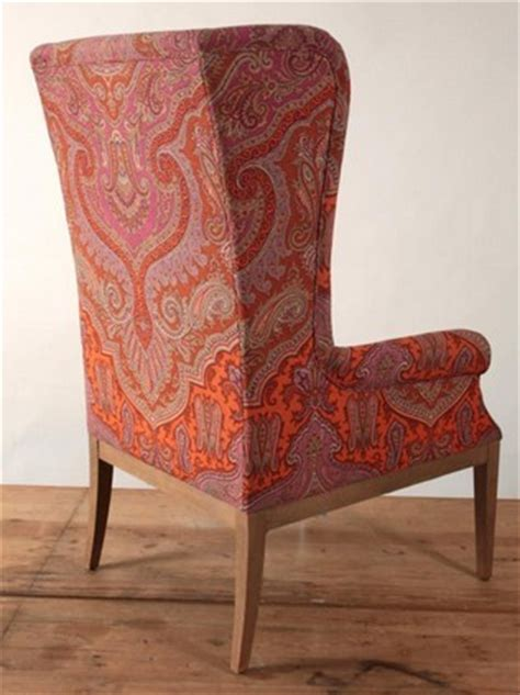 paisley jaipur high  wing chair