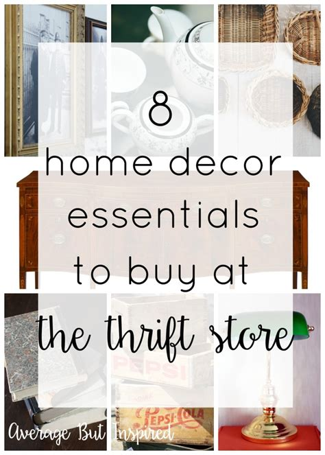 8 Home Decor Essentials To Buy At The Thrift Store