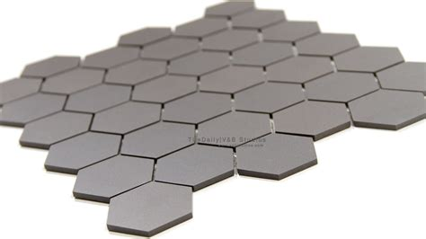 hexagon matte porcelain mosaic grey tiledaily