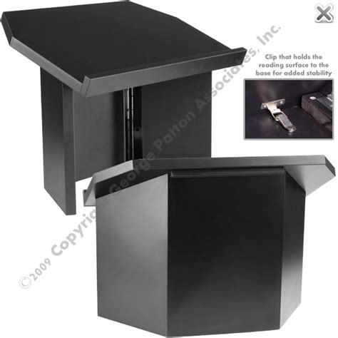 folding table top podium tri folding tabletop lectern black
