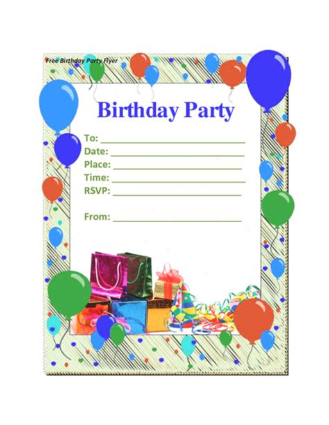 Birthday Blank Template by Birthday Invitations Templates Word Mughals