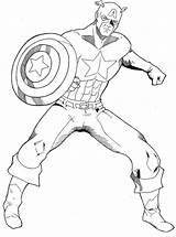 Captain America Coloring Pages Printable sketch template