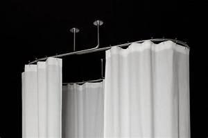 Support Tringle Rideau Plafond : galbobain tringle de rideau de douche plafond ovale ~ Dailycaller-alerts.com Idées de Décoration