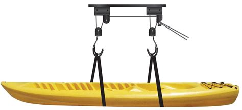 garage ceiling kayak hoist kayak canoe garage ceiling storage hanging lift hoist