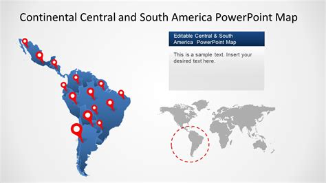 powerpoint map templates continental latin america powerpoint map slidemodel