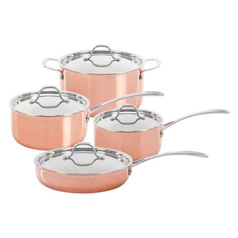 concord cookware  piece copper set copper cookware set copper cookware cookware set