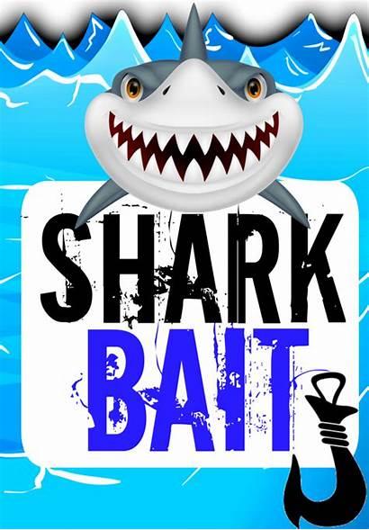 Shark Labels Printable Pool Printables Birthday Label