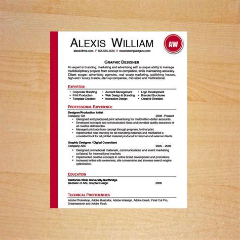 graphic designer resume template career goods