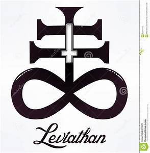 The Satanic Cross With Evil Eye, Demon Leviathan. Vector ...