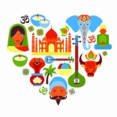 India Symbols Vector Heart Symbol Culture Clipart