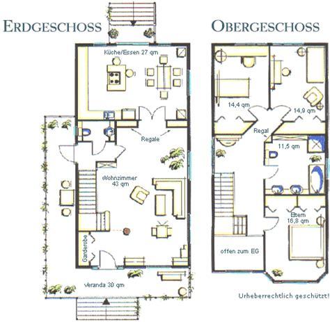 Grundriss Haus Schmales Grundstück by Haus Virginia Hausansicht Grundriss Eg Und Og House