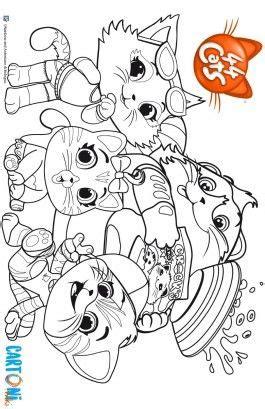colora buffycats   gatti compleanni disegni da