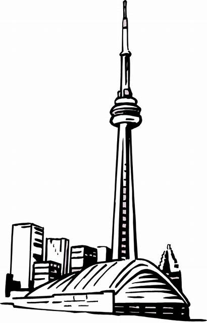 Cn Tower Drawing Easy Clipart Transparent Skyline