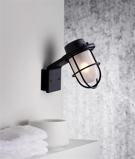 marine styled wall light polished chrome or black