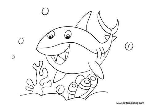 shark week coloring pages shark   sea