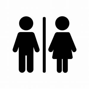Collection of restroom icons free download