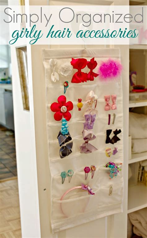 Organized Little Girl Hair Accessories   A Summer