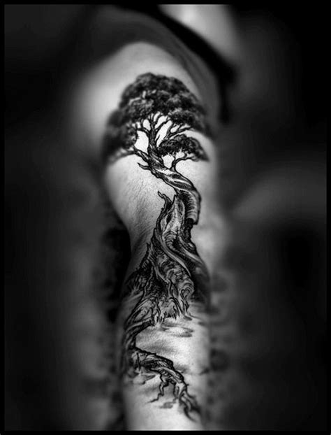 Awesome black tree tattoo - | TattooMagz › Tattoo Designs / Ink Works / Body Arts Gallery