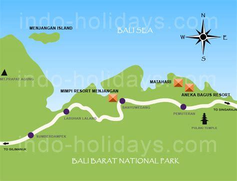detail pemuteran bali location map  tourists guide