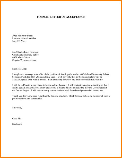 english formal letter format sample penn working papers