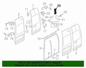 Ford Transit Connect Back Door Hinge Cover