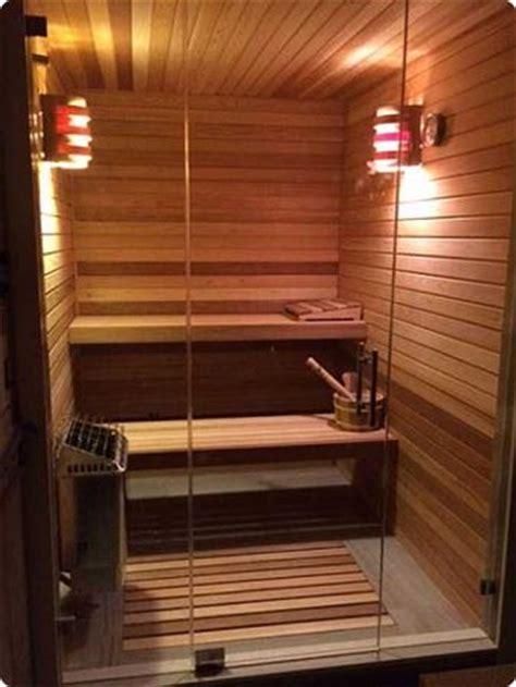 home sauna kit  glass front wall