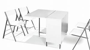 Table Avec 4 Chaises : table modulable et relevable avec chaises hub mobilier moss ~ Teatrodelosmanantiales.com Idées de Décoration