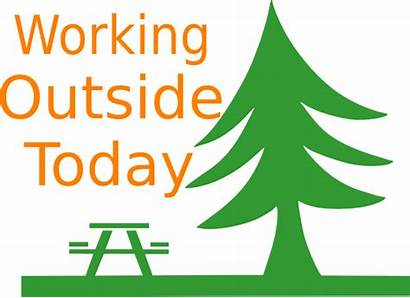 Outside Working Clip Clker Clipart