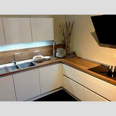 Erstaunlich Küche Weiß Arbeitsplatte Eiche Moderne Kuechen