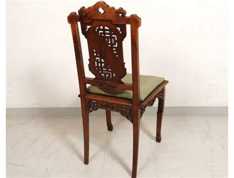 chaise de bureau antique characters carved wooden office chair flowers nineteenth bird table antiques de laval