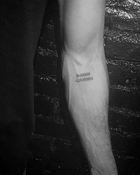 50 Coordinate Tattoo Ideas For Men - Geographic Landmark