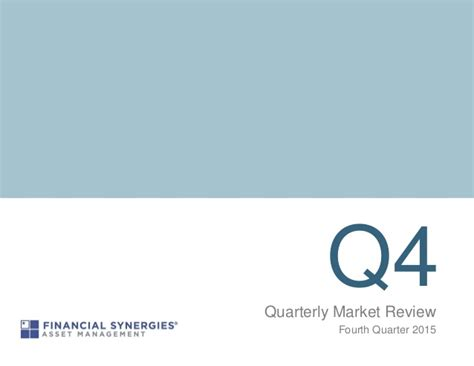 Financial Synergies 4th Quarter Market Review
