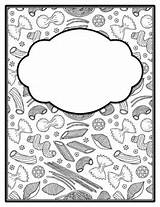 Binder Spines sketch template