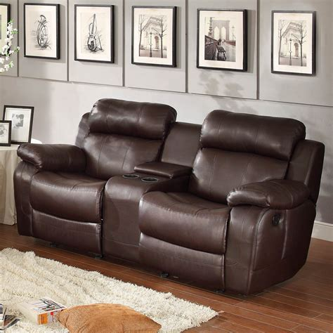 brown leather recliner sofa set homelegance marille 3 piece reclining living room set in