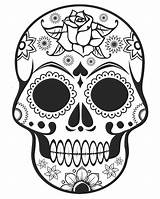 Coloring Skull Sugar Pages Skulls Skullcandy sketch template