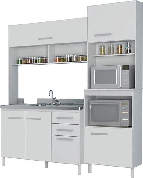 Kit Cocina Compacta Con Mesada De Acero Mueble Cocina