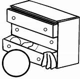 Coloring Pages Dresser Furniture Childs Drawers Chest Magic sketch template
