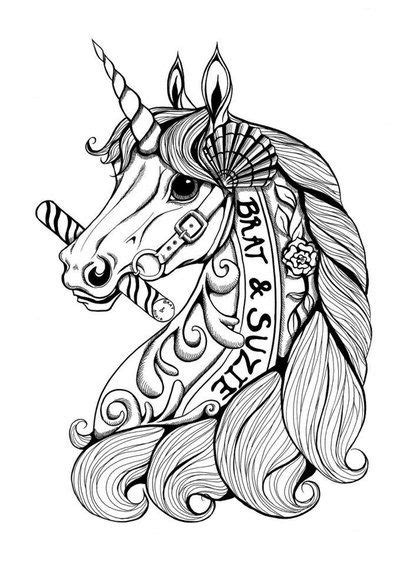 Unicorns to Color: 10+ handpicked ideas to discover in