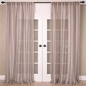 buy aura 96 inch striped sheer window curtain panel in