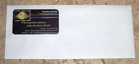 business card marketing envelopes advertise