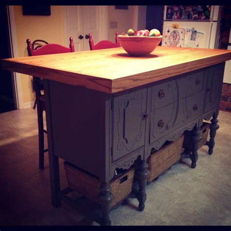 antique island for kitchen best 25 kitchen island made from antique buffet ideas on