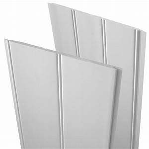 Shop evertrue 75 in x 283 ft white pvc wall plank at for Pvc sheets for bathroom walls